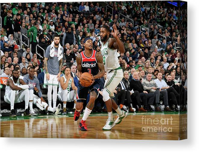 Nba Pro Basketball Canvas Print featuring the photograph Bradley Beal by Brian Babineau
