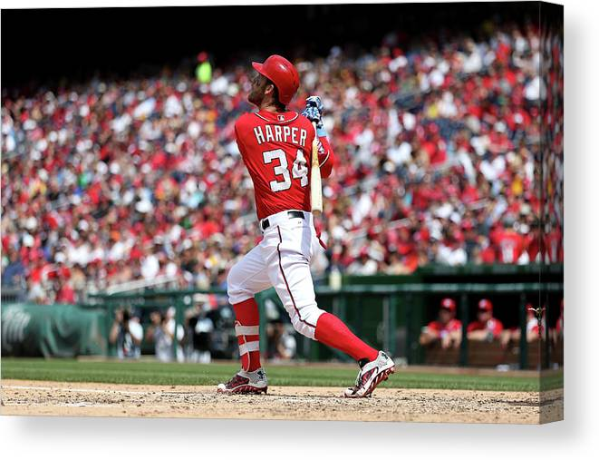 People Canvas Print featuring the photograph Bryce Harper by Patrick Smith