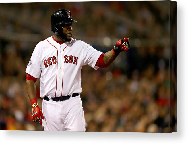 Playoffs Canvas Print featuring the photograph David Ortiz by Elsa