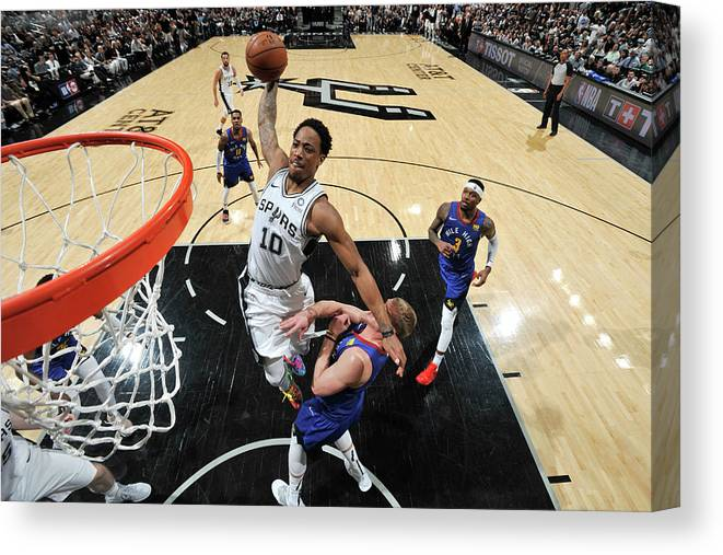 Playoffs Canvas Print featuring the photograph Demar Derozan by Mark Sobhani