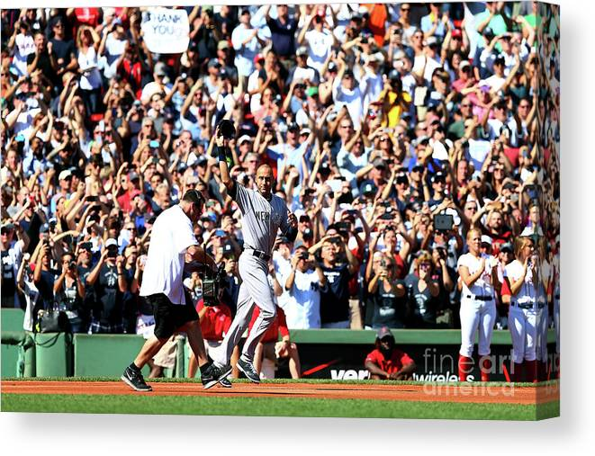 American League Baseball Canvas Print featuring the photograph Derek Parks by Elsa