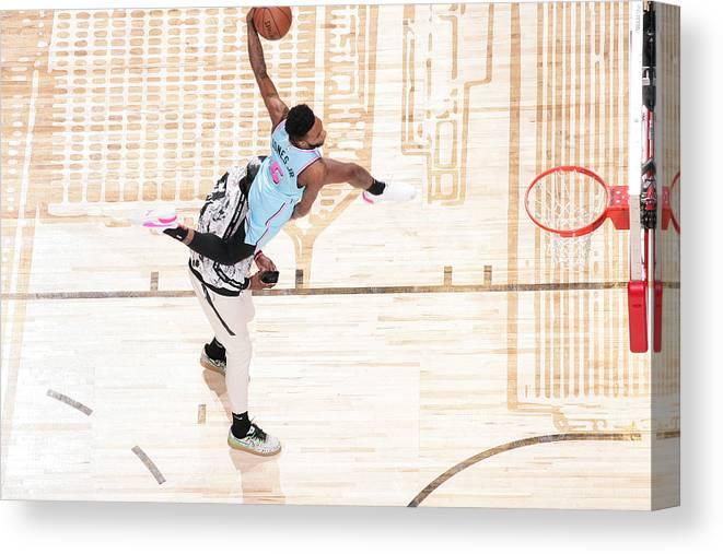 Nba Pro Basketball Canvas Print featuring the photograph Derrick Jones by Nathaniel S. Butler