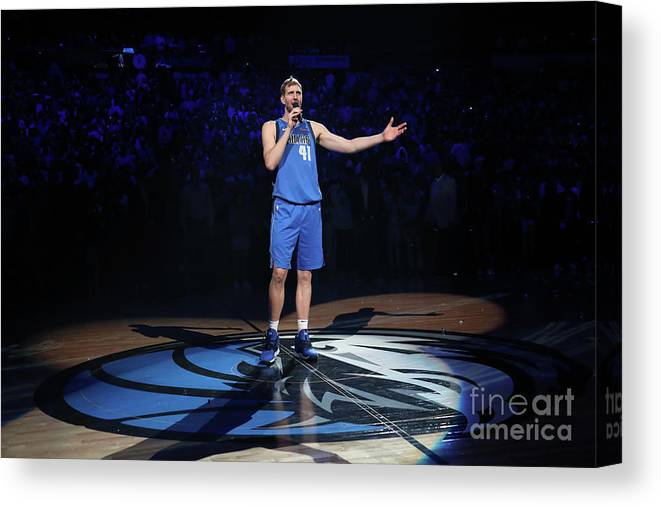 Nba Pro Basketball Canvas Print featuring the photograph Dirk Nowitzki by Nathaniel S. Butler