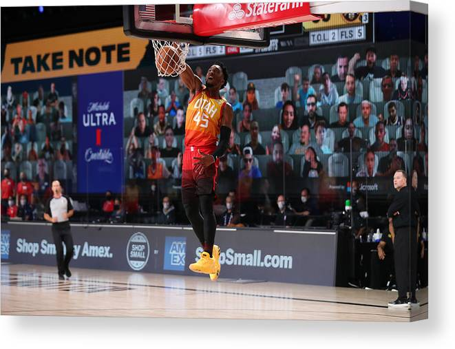 Nba Pro Basketball Canvas Print featuring the photograph Donovan Mitchell by Joe Murphy