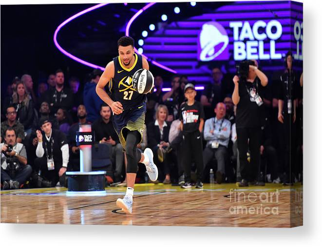 Event Canvas Print featuring the photograph Jamal Murray by Jesse D. Garrabrant