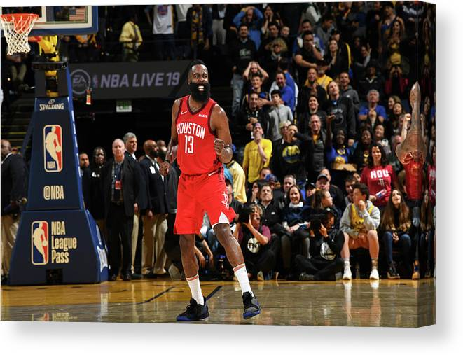 Nba Pro Basketball Canvas Print featuring the photograph James Harden by Noah Graham