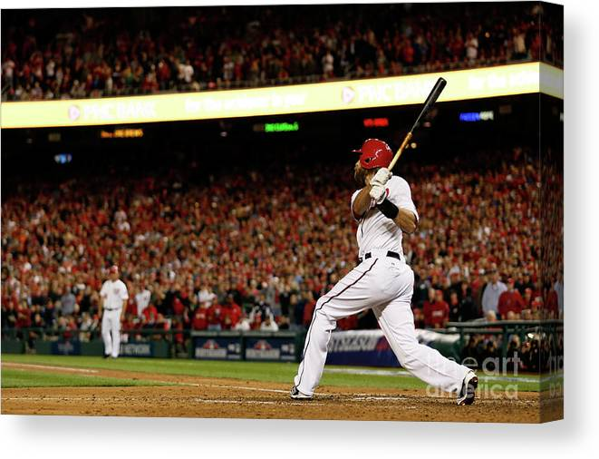 Playoffs Canvas Print featuring the photograph Jayson Werth by Rob Carr