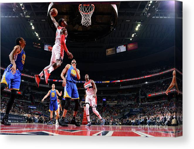 Nba Pro Basketball Canvas Print featuring the photograph John Wall by Jesse D. Garrabrant