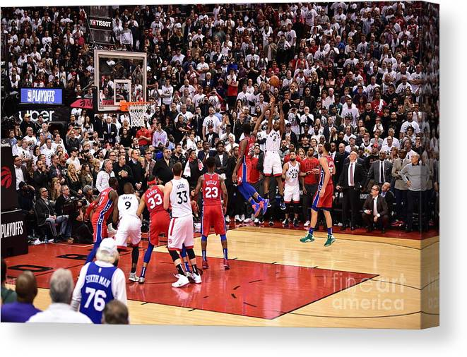 Playoffs Canvas Print featuring the photograph Kawhi Leonard by David Dow