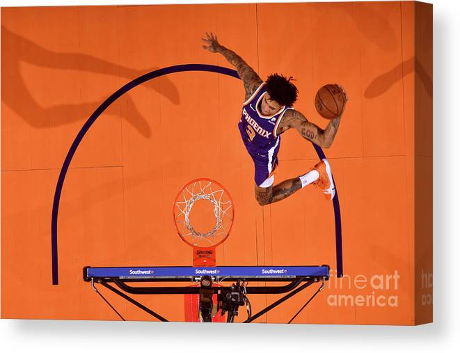 Nba Pro Basketball Canvas Print featuring the photograph Kelly Oubre by Barry Gossage