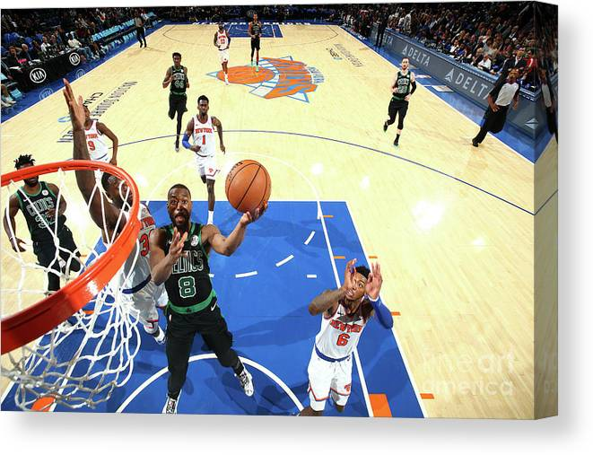 Kemba Walker Canvas Print featuring the photograph Kemba Walker by Nathaniel S. Butler