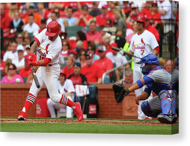 St. Louis Cardinals Canvas Print featuring the photograph Kolten Wong by Dilip Vishwanat