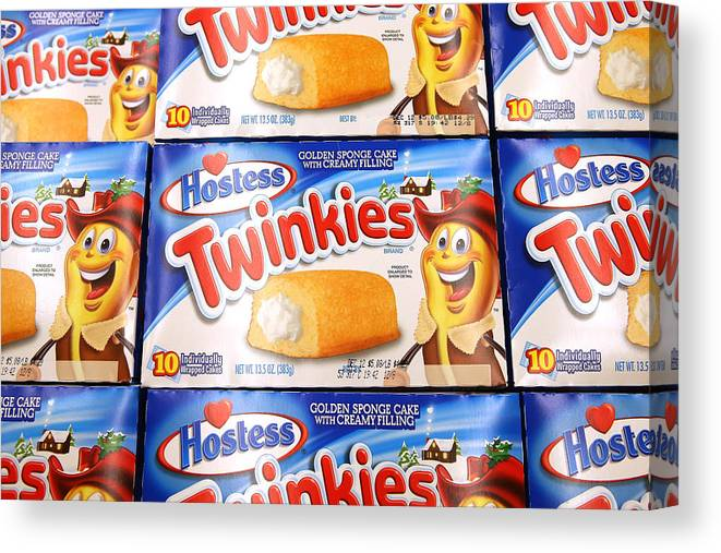 Employment And Labor Canvas Print featuring the photograph Last Shipment Of Hostess Twinkies Arrives In Chicago Area Stores by Scott Olson