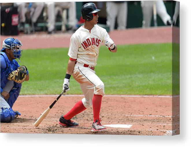 American League Baseball Canvas Print featuring the photograph Michael Brantley by Jason Miller
