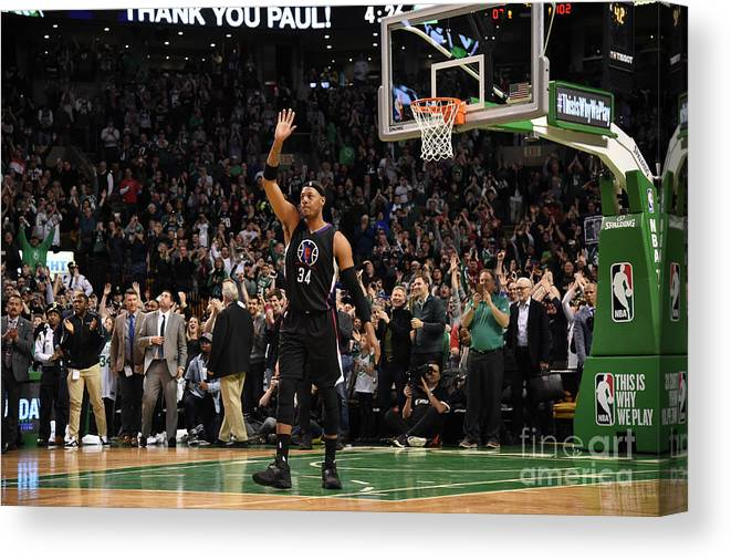 Crowd Canvas Print featuring the photograph Paul Pierce by Brian Babineau