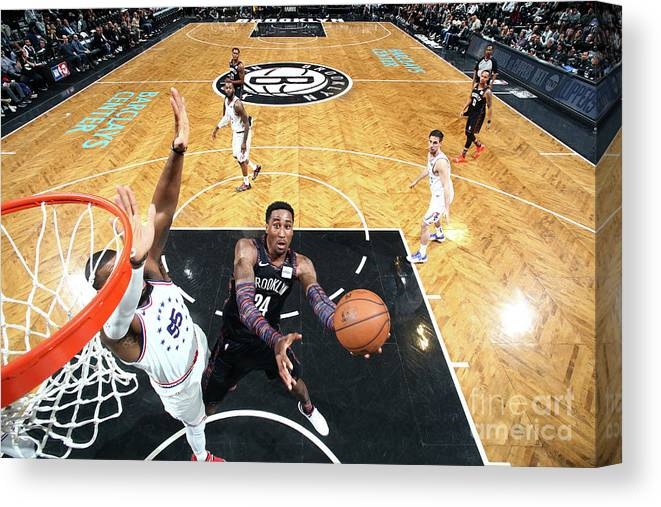 Playoffs Canvas Print featuring the photograph Rondae Hollis-jefferson by Nathaniel S. Butler