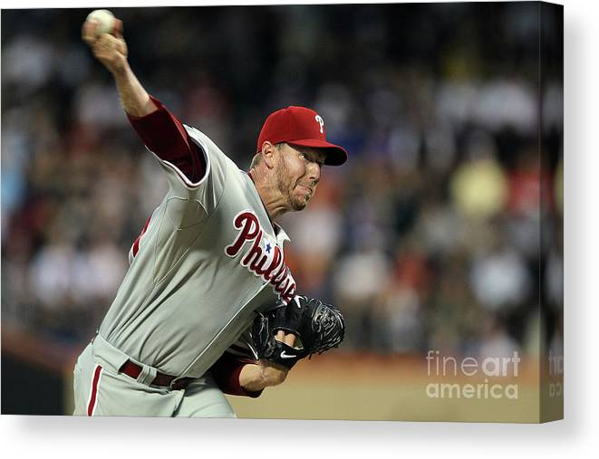 Residential District Canvas Print featuring the photograph Roy Halladay by Jim Mcisaac
