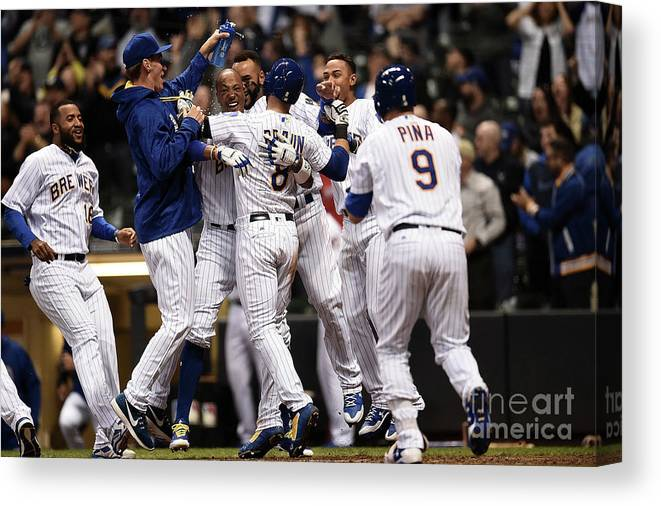 People Canvas Print featuring the photograph Ryan Braun by Stacy Revere