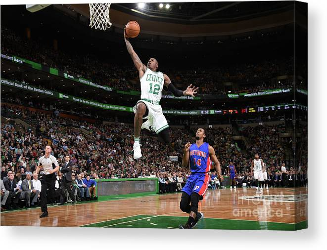 Nba Pro Basketball Canvas Print featuring the photograph Terry Rozier by Brian Babineau