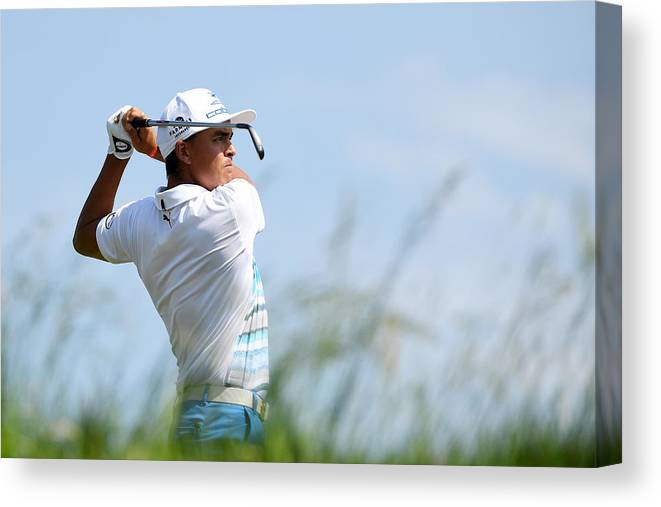 People Canvas Print featuring the photograph U.S. Open - Preview Day 2 by Ross Kinnaird