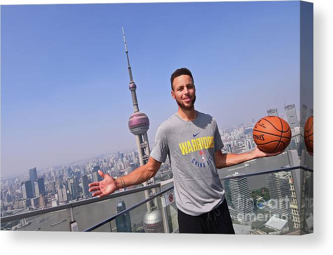 Event Canvas Print featuring the photograph Stephen Curry by Noah Graham