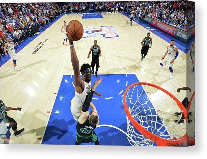 Playoffs Canvas Print featuring the photograph Joel Embiid by Jesse D. Garrabrant