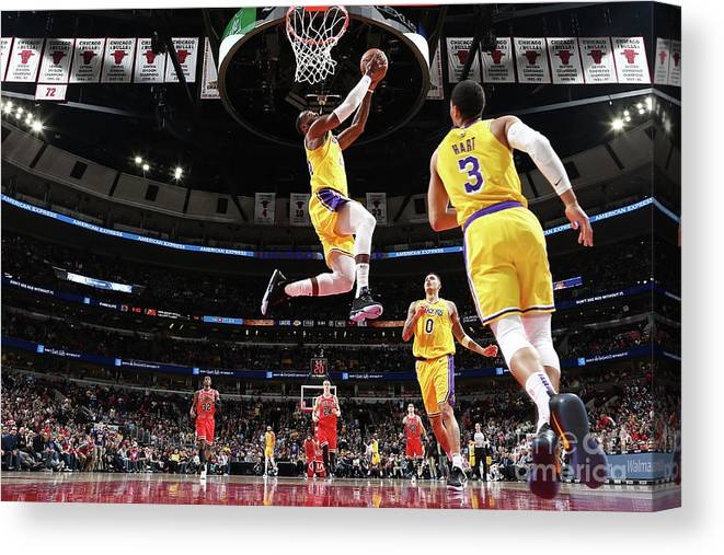 Nba Pro Basketball Canvas Print featuring the photograph Lebron James by Nathaniel S. Butler