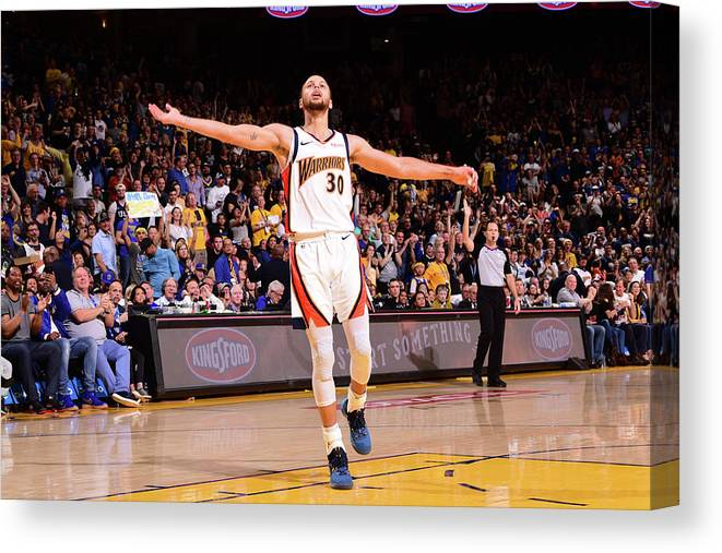 Crowd Canvas Print featuring the photograph Stephen Curry by Noah Graham