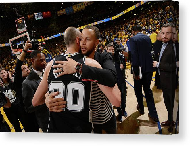 Following Canvas Print featuring the photograph Stephen Curry by Noah Graham