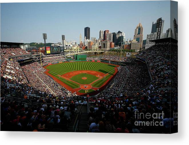 People Canvas Print featuring the photograph Andrew Mccutchen by Jared Wickerham