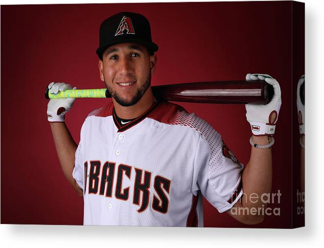 Media Day Canvas Print featuring the photograph David Peralta by Christian Petersen