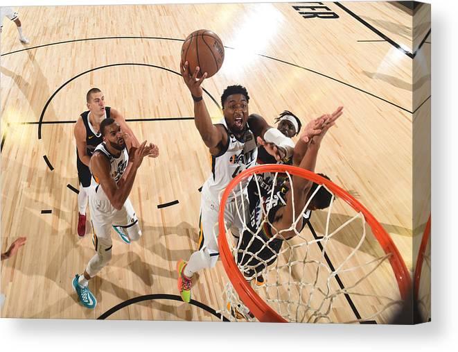 Playoffs Canvas Print featuring the photograph Donovan Mitchell by Garrett Ellwood