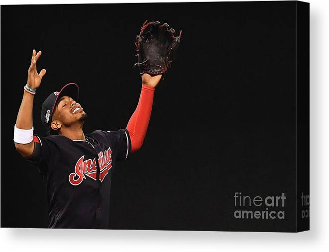 Game Two Canvas Print featuring the photograph Francisco Lindor by Jason Miller
