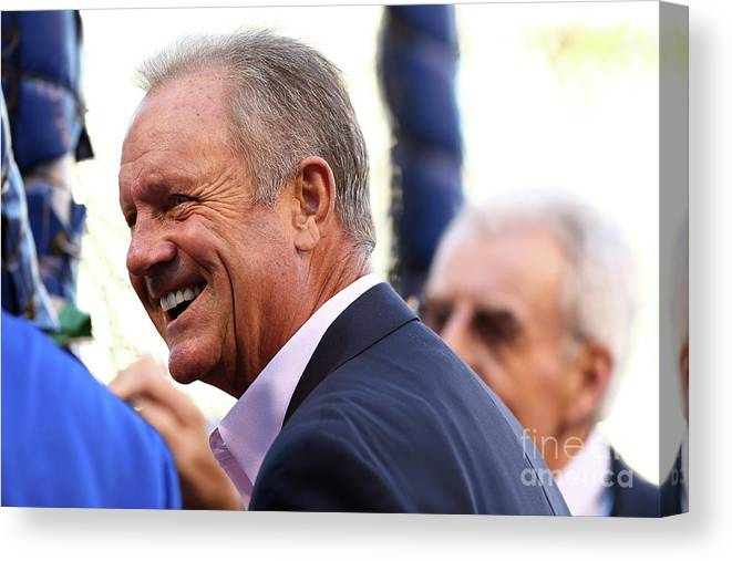People Canvas Print featuring the photograph George Brett by Elsa