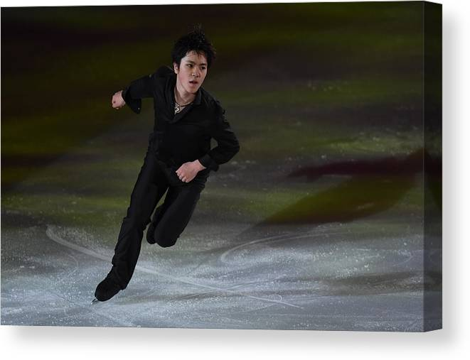 People Canvas Print featuring the photograph Japan Figure Skating Championships 2016 - Exhibition by Atsushi Tomura