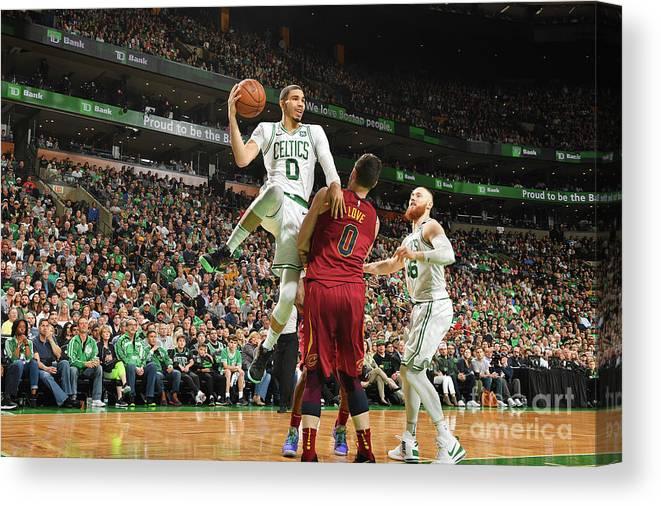 Playoffs Canvas Print featuring the photograph Jayson Tatum by Jesse D. Garrabrant