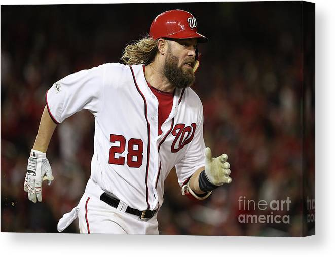 American League Baseball Canvas Print featuring the photograph Jayson Werth by Patrick Smith