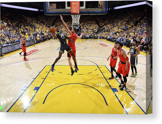 Game Two Canvas Print featuring the photograph Jordan Bell by Andrew D. Bernstein
