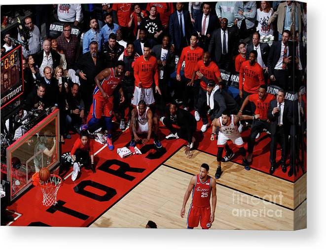 Playoffs Canvas Print featuring the photograph Kawhi Leonard by Mark Blinch