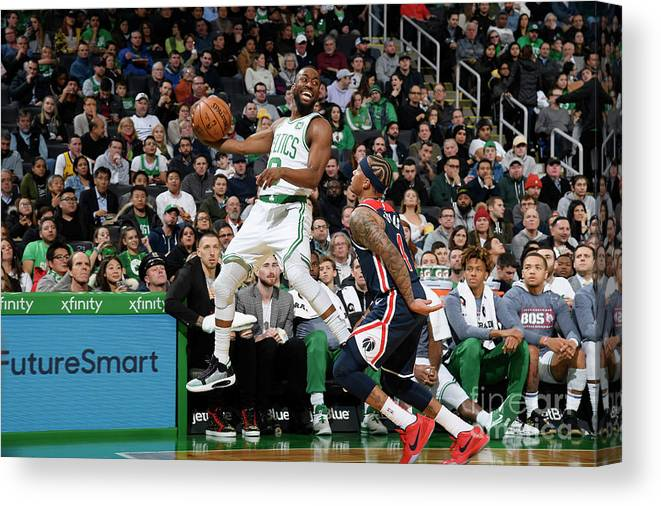 Kemba Walker Canvas Print featuring the photograph Kemba Walker by Brian Babineau