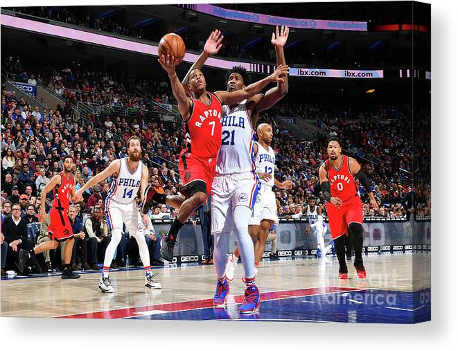 Nba Pro Basketball Canvas Print featuring the photograph Kyle Lowry by Jesse D. Garrabrant