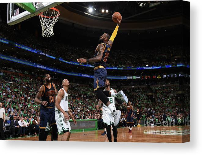 Playoffs Canvas Print featuring the photograph Lebron James by Brian Babineau