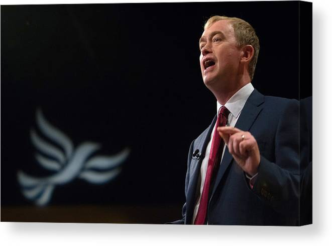 People Canvas Print featuring the photograph Liberal Democrats Autumn Conference 2015 - Day 5 by Matt Cardy
