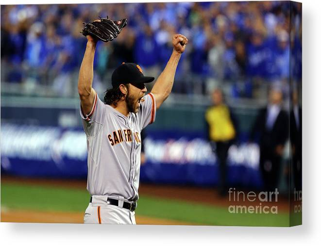 People Canvas Print featuring the photograph Madison Bumgarner by Elsa