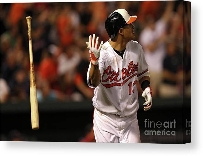 Three Quarter Length Canvas Print featuring the photograph Manny Machado by Patrick Smith