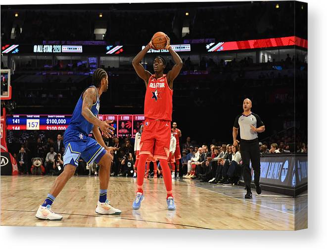 Nba Pro Basketball Canvas Print featuring the photograph Pascal Siakam by Jesse D. Garrabrant