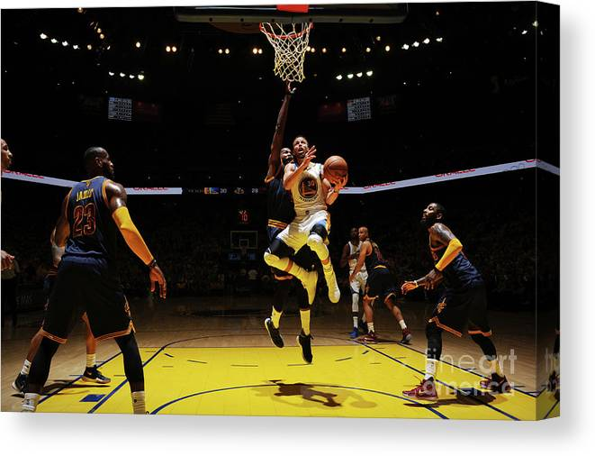 Playoffs Canvas Print featuring the photograph Stephen Curry by Garrett Ellwood
