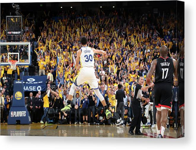 Playoffs Canvas Print featuring the photograph Stephen Curry by Joe Murphy