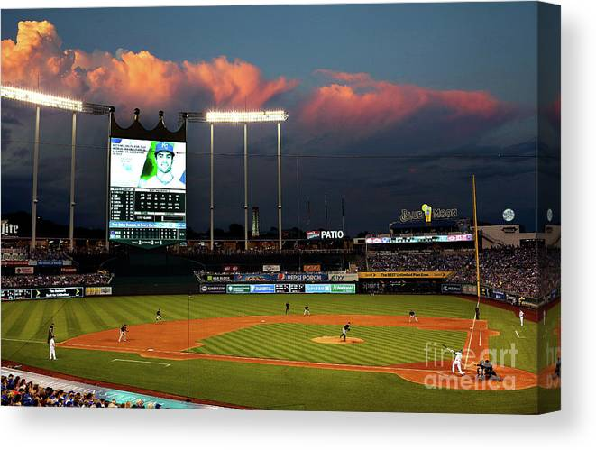 People Canvas Print featuring the photograph Whit Merrifield by Jamie Squire