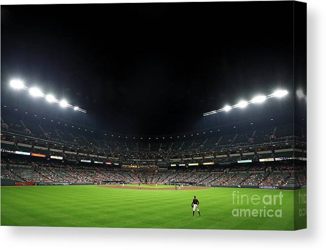 People Canvas Print featuring the photograph Adam Jones by Patrick Smith